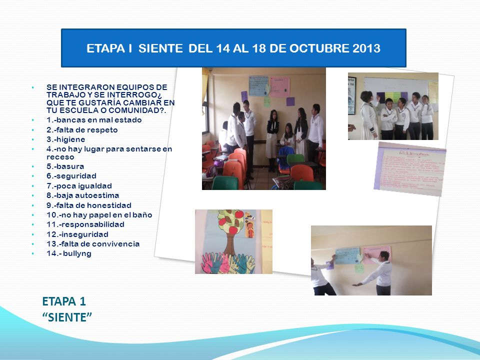 ETAPA 2 IMAGINA 21 DE OCTUBRE 2013 SE LLEGA EN CONCENSO A ELEGIR LAS PROBLEMATICAS MÁS PRIORIZANTES.