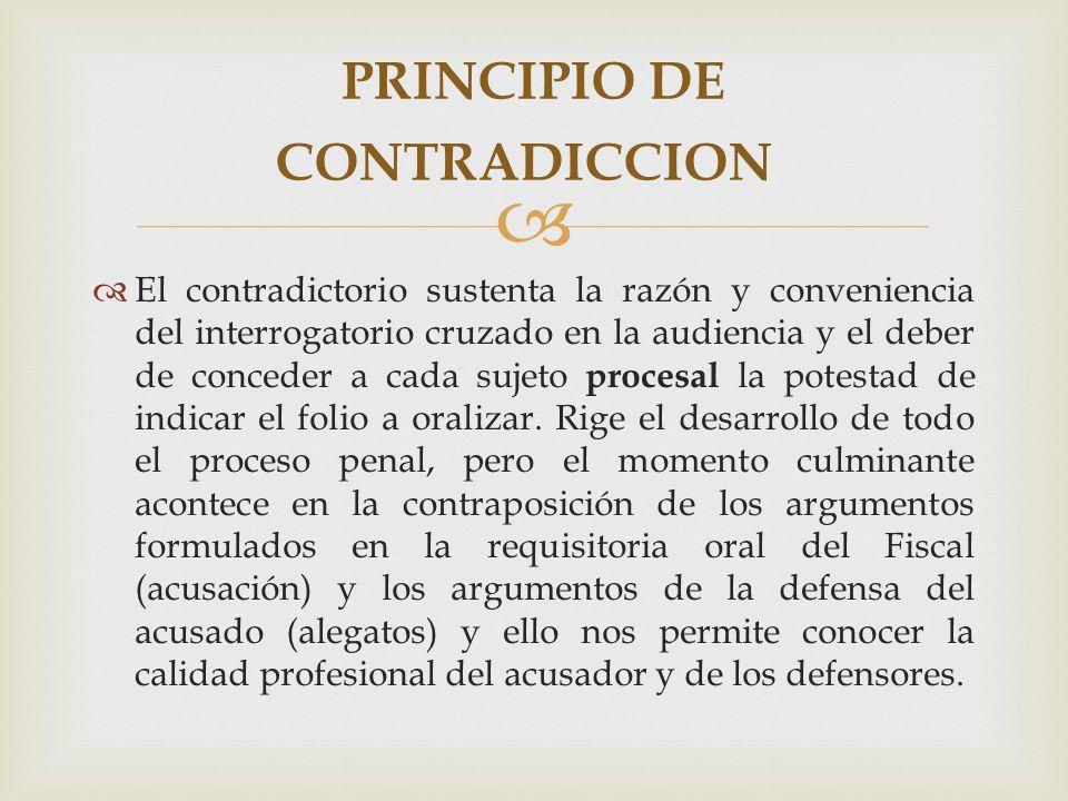 El contradictorio sustenta la razón y conveniencia del interrogatorio cruzado en la audiencia y el deber de conceder a cada sujeto procesal la potestad de indicar el folio a oralizar.