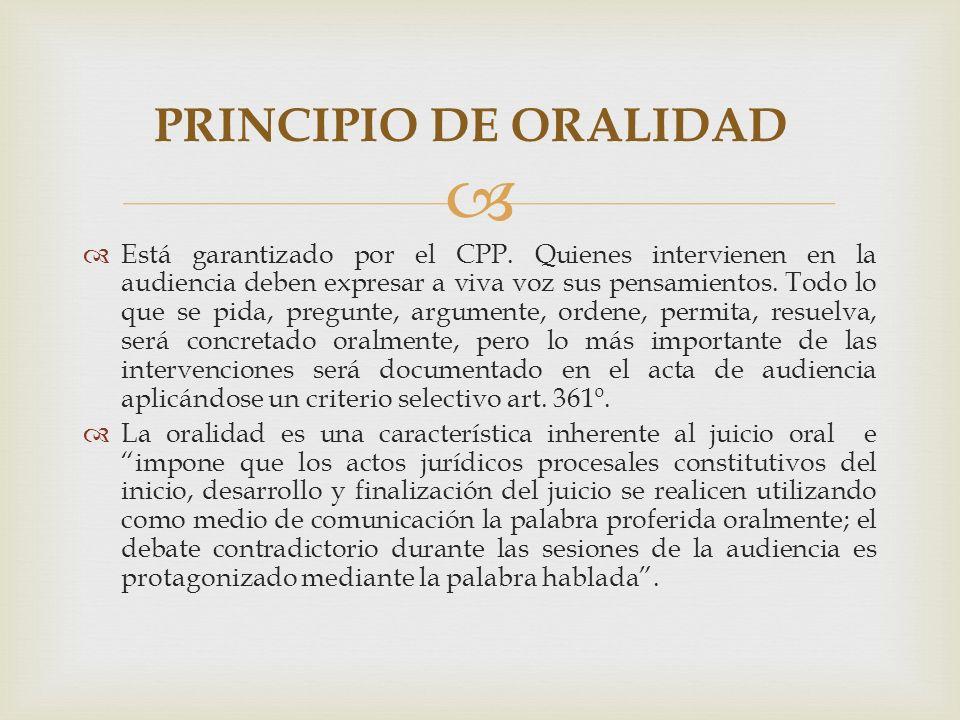 Está garantizado por el CPP.
