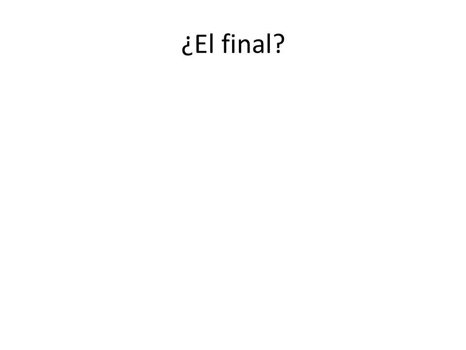 ¿El final
