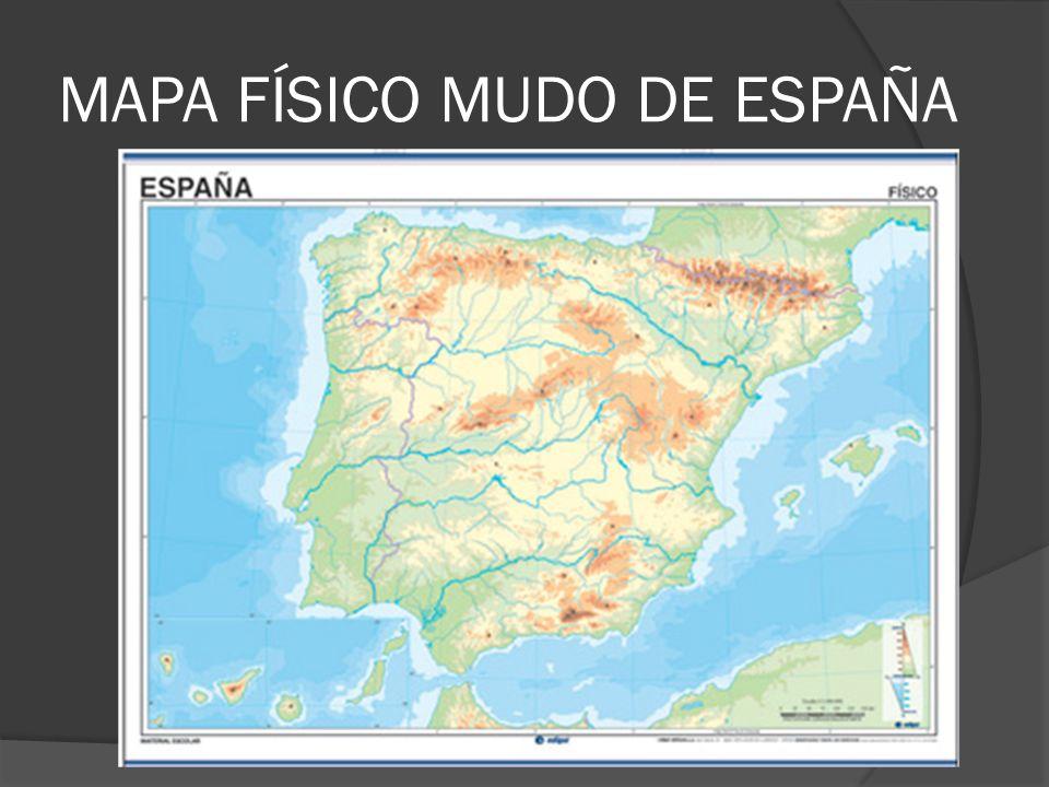 MAPA FÍSICO MUDO DE ESPAÑA