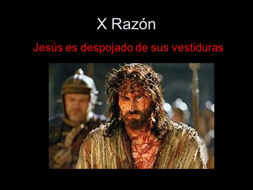 X Razón Jesús es despojado de sus vestiduras