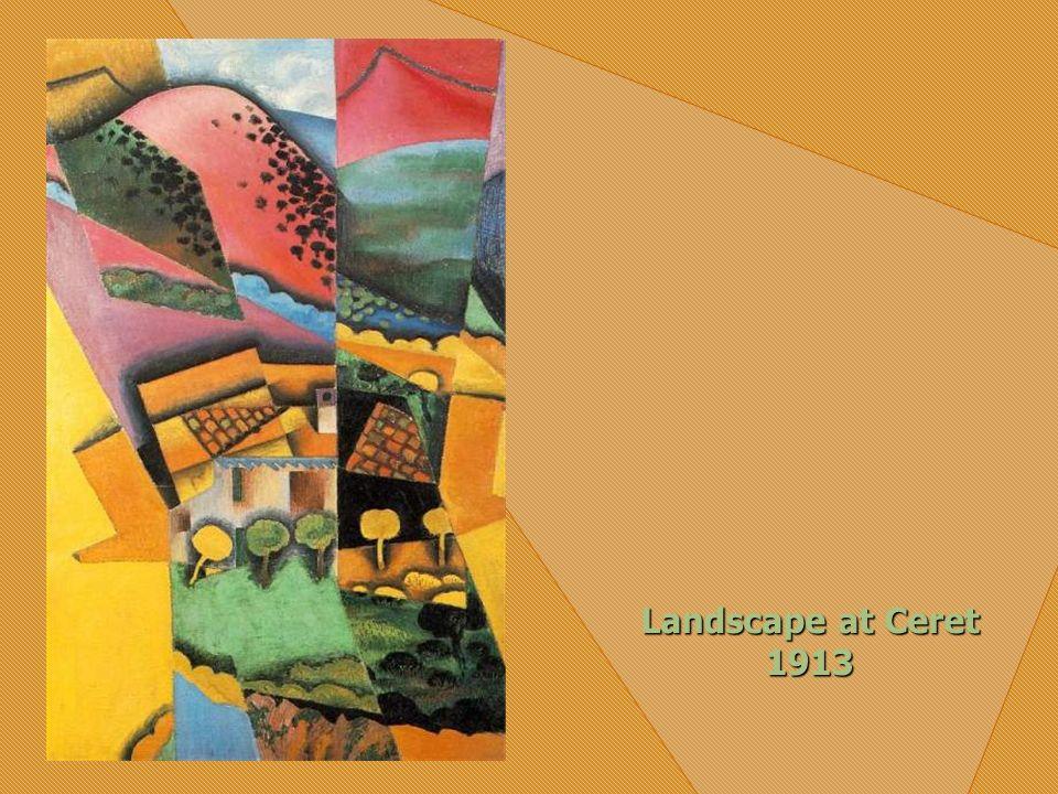 Landscape with Houses at Ceret 1913 Los primeros años se ganó la vida dibujando para las revistas L Assiette du Beurre y Charavari. Sus primeras obras