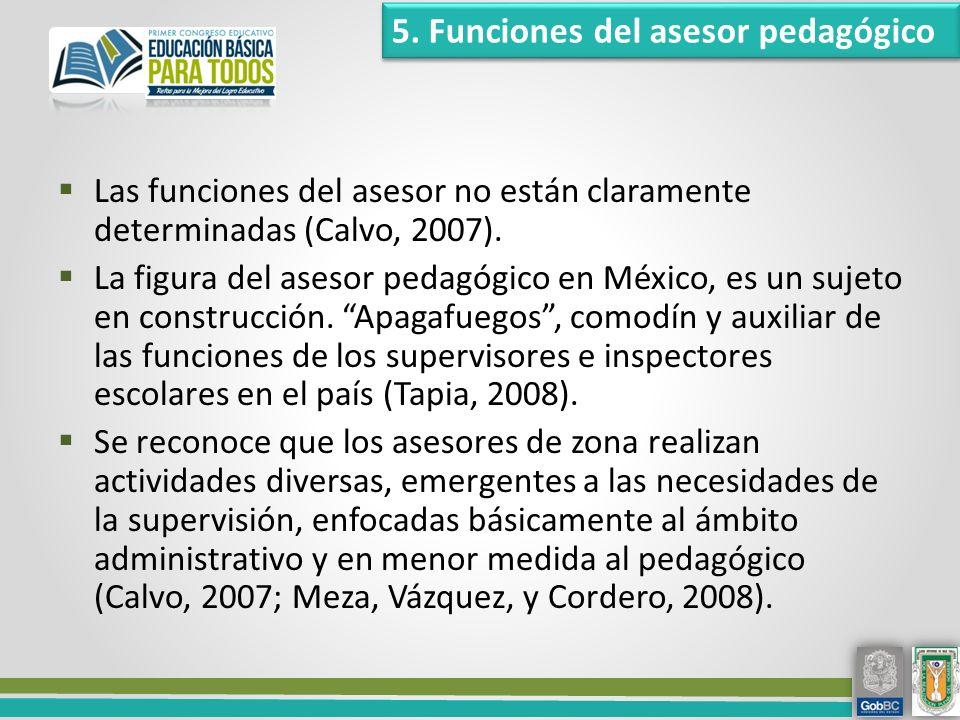 Las funciones del asesor no están claramente determinadas (Calvo, 2007).
