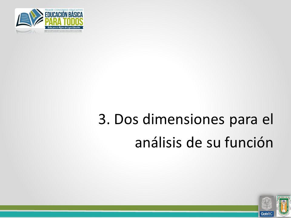 3. Dos dimensiones para el análisis de su función
