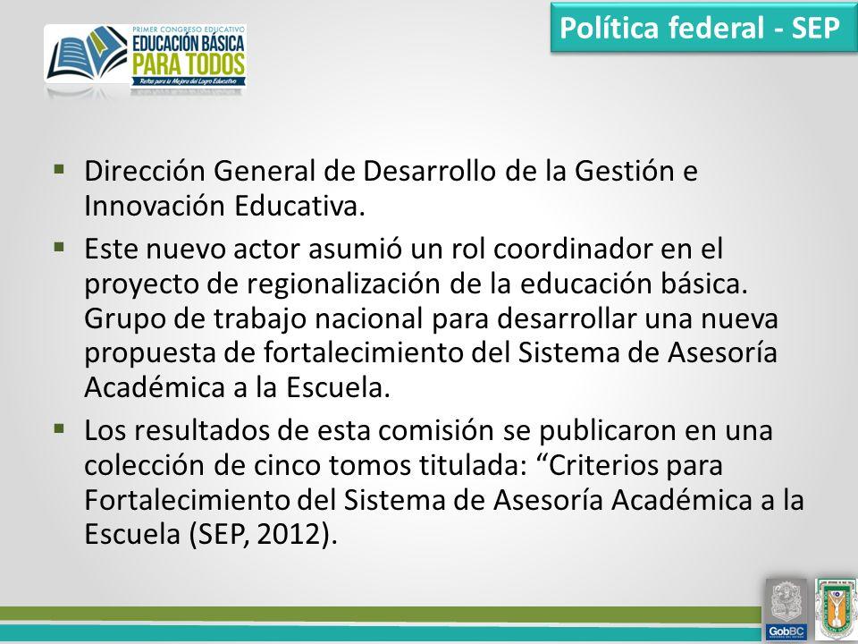 Dirección General de Desarrollo de la Gestión e Innovación Educativa.