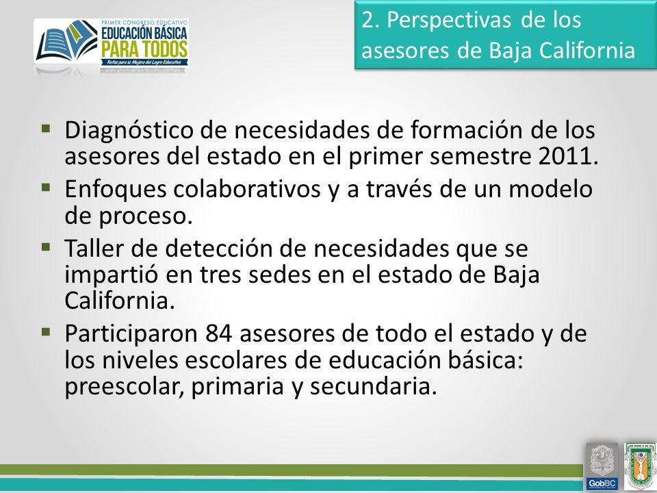 Diagnóstico de necesidades de formación de los asesores del estado en el primer semestre 2011.