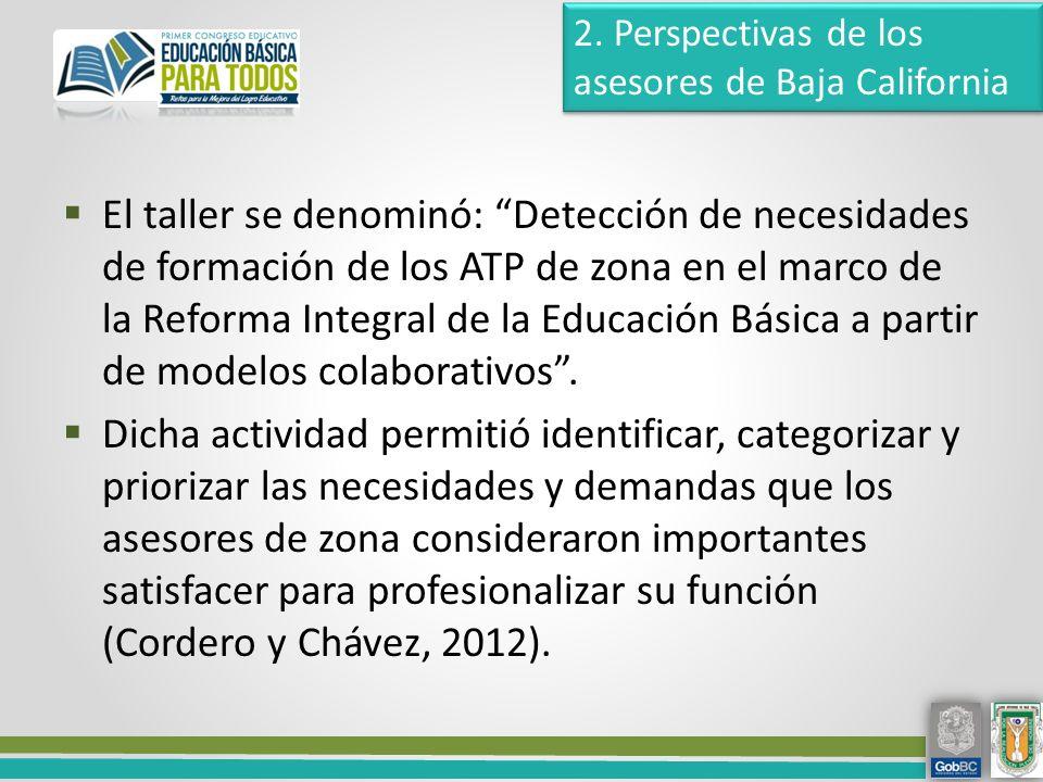 El taller se denominó: Detección de necesidades de formación de los ATP de zona en el marco de la Reforma Integral de la Educación Básica a partir de modelos colaborativos.