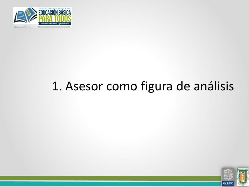 1. Asesor como figura de análisis