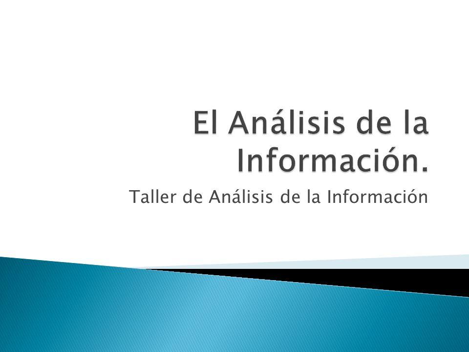 Taller de Análisis de la Información