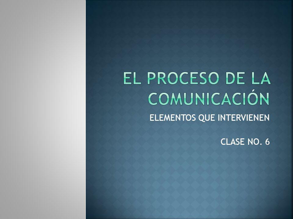 Antes de iniciar las diferentes etapas que conforman el proceso de comunicación, se debe comprender cómo funciona la comunicación en si, para lo cual se debe analizar los elementos que interactúan en ella.