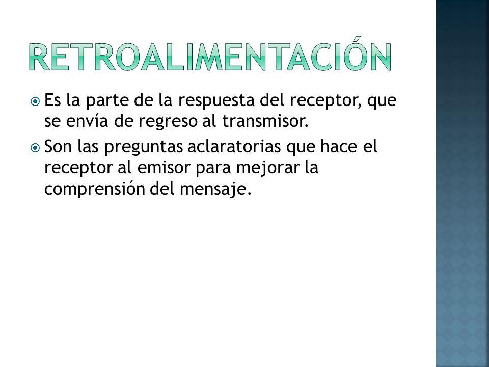 Es la parte de la respuesta del receptor, que se envía de regreso al transmisor.