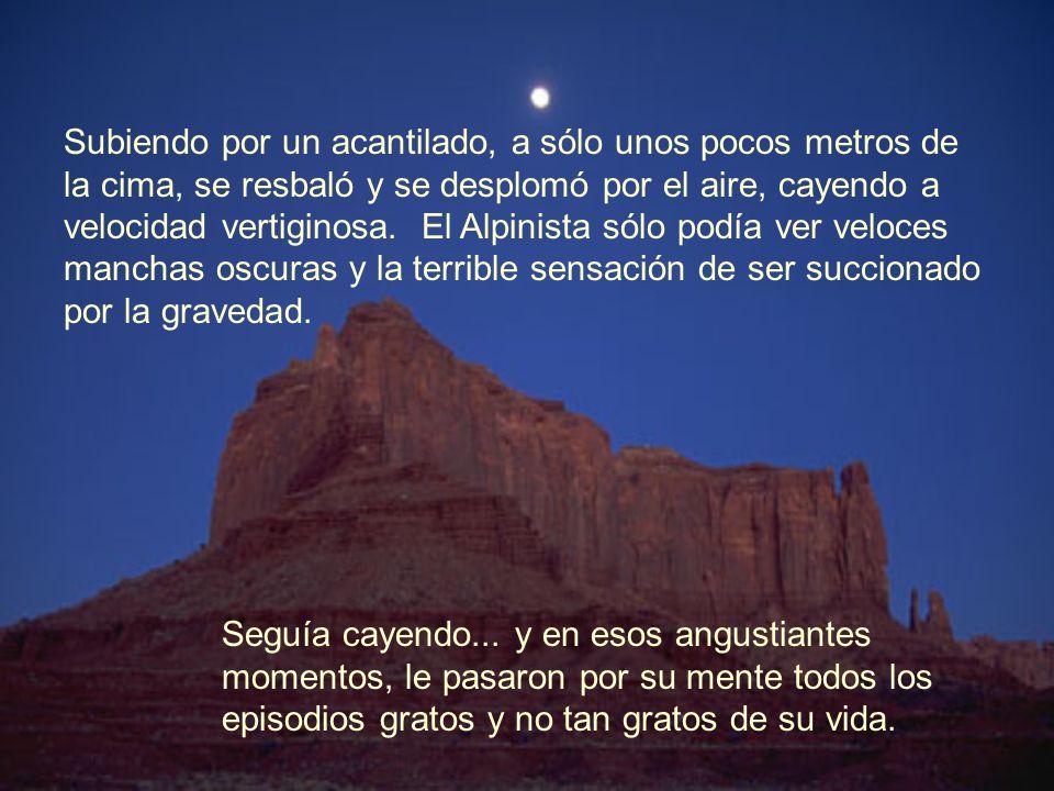 La noche cayó con gran pesadez en la altura de la montaña, ya no se podía ver absolutamente nada. Todo era negro, cero visibilidad, la luna y las estr