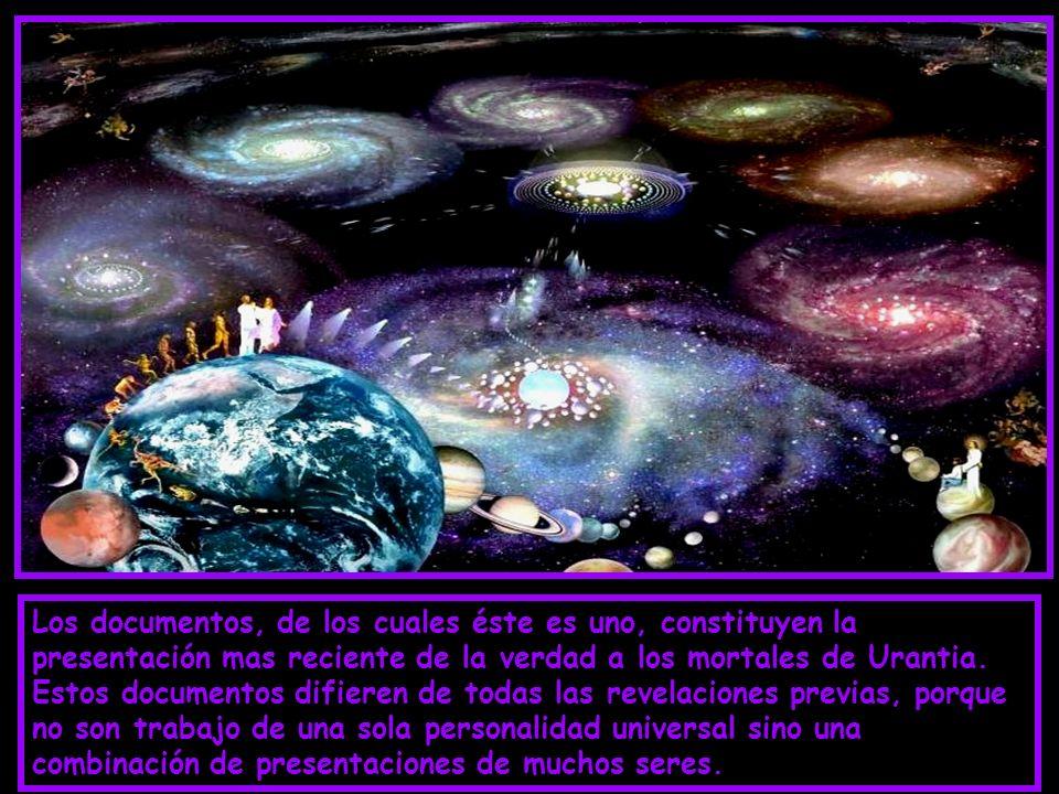 El libro está dividido en cuatro partes: 1°-EL UNIVERSO CENTRAL Y LOS 7 SUPERUNIVERSOS 2°-EL UNIVERSO LOCAL. 3°-LA HISTORIA DE URANTIA. 4°-LA VIDA Y L
