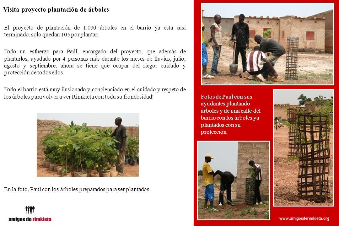 www.amigosderimkieta.org Visita proyecto plantación de árboles El proyecto de plantación de 1.000 árboles en el barrio ya está casi terminado, solo qu