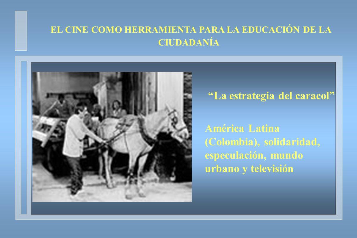 La estrategia del caracol América Latina (Colombia), solidaridad, especulación, mundo urbano y televisión