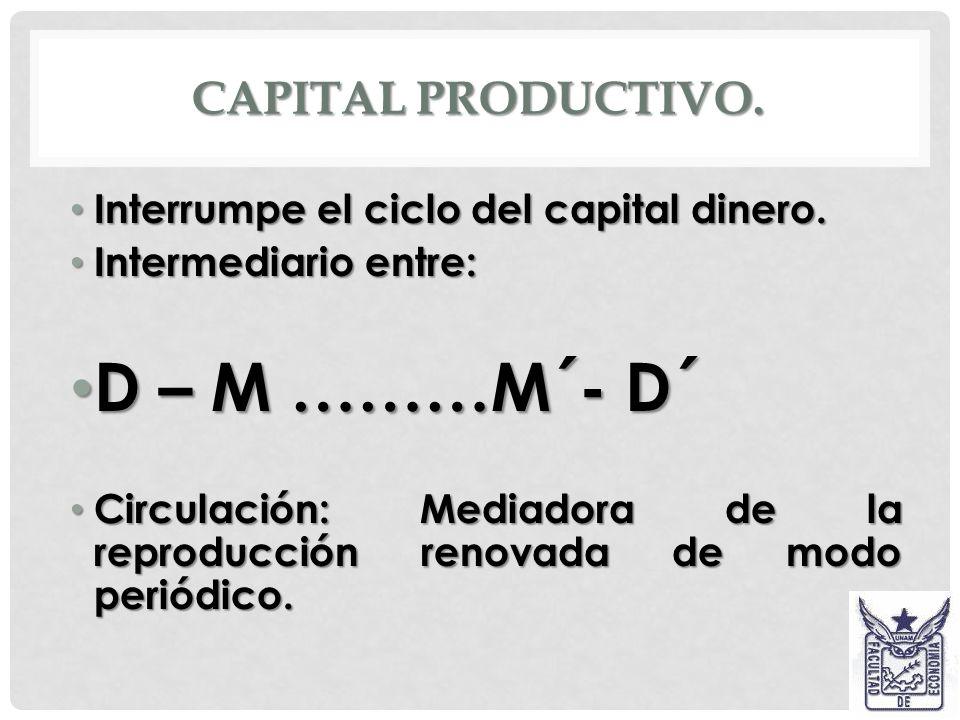 M´ Puede entrar directamente a la producción sin pasar por la circulación como medio de producción o como consumo capitalista. Puede entrar directamen