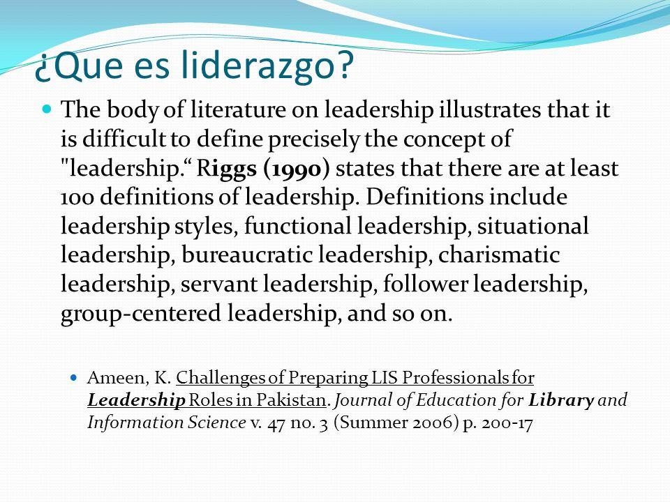 ¿Que es liderazgo.