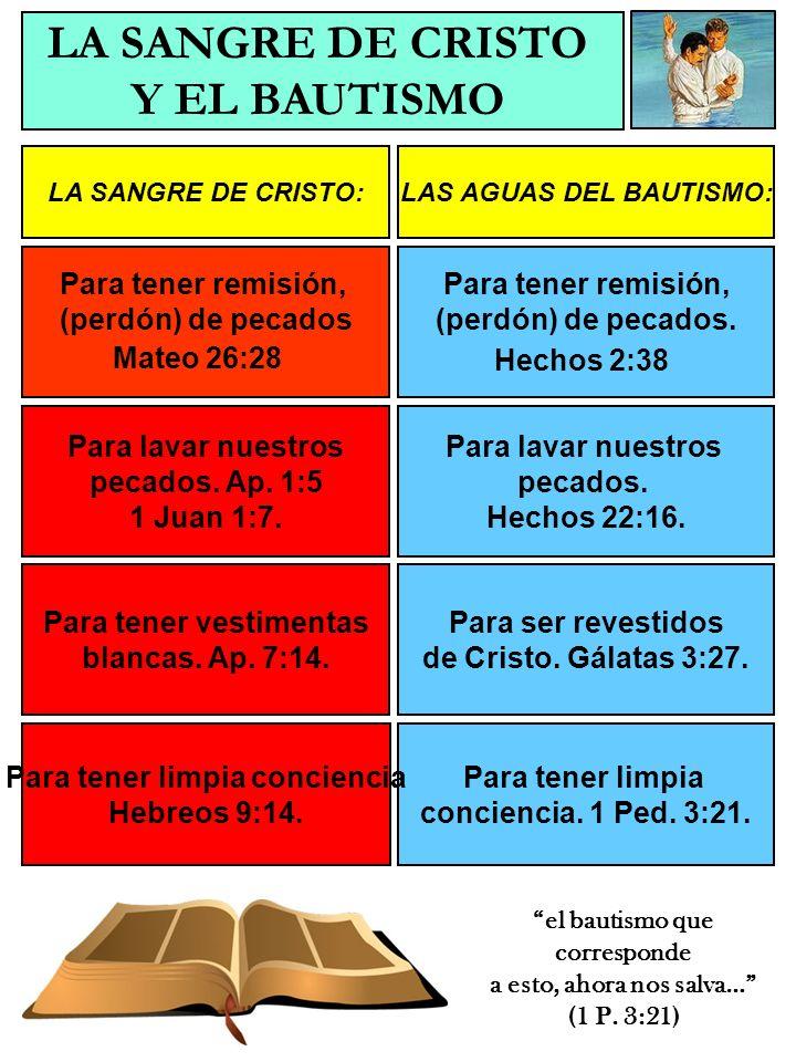 LA SANGRE DE CRISTO:LAS AGUAS DEL BAUTISMO: Para ser santificados (Separados para Dios) Heb.