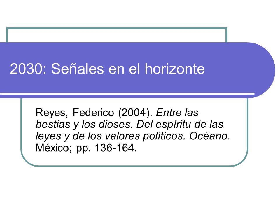 2030: Señales en el horizonte Reyes, Federico (2004).