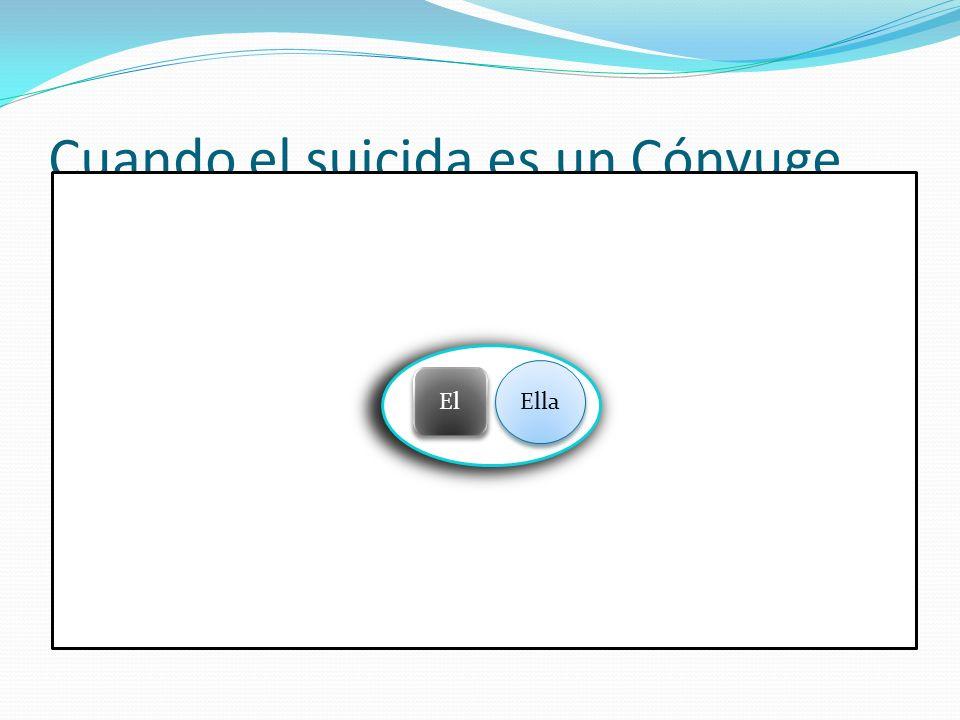 Cuando el suicida es un Cónyuge Ella El