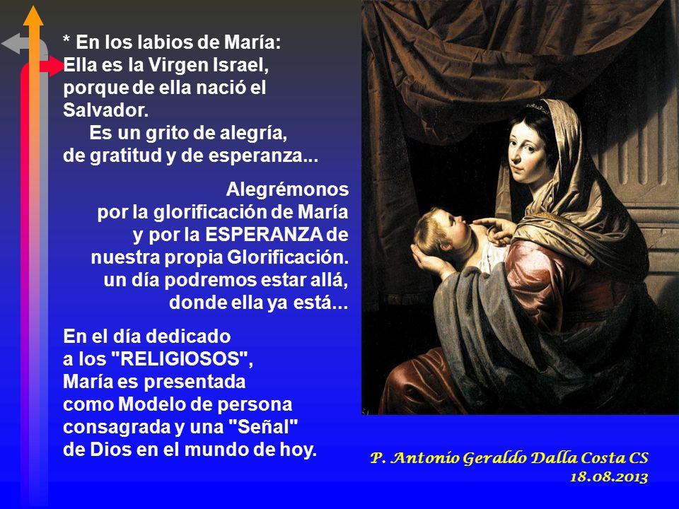 + Proclama mi alma la grandeza del Señor... - El CÁNTICO DE MARÍA describe el programa de Dios, que Él comenzó a realizar desde el principio, que pros