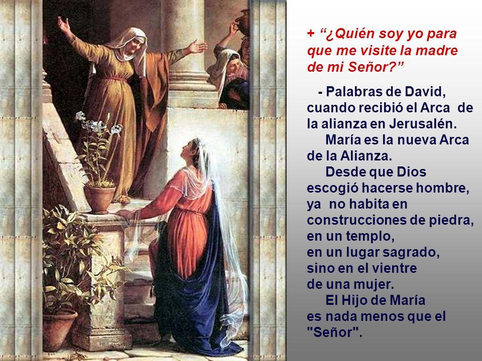 - Saludo dirigido a Jael y a Judit, en el Antiguo Testamento... María también pertenece a la categoría de los instrumentos frágiles y pobres, con que