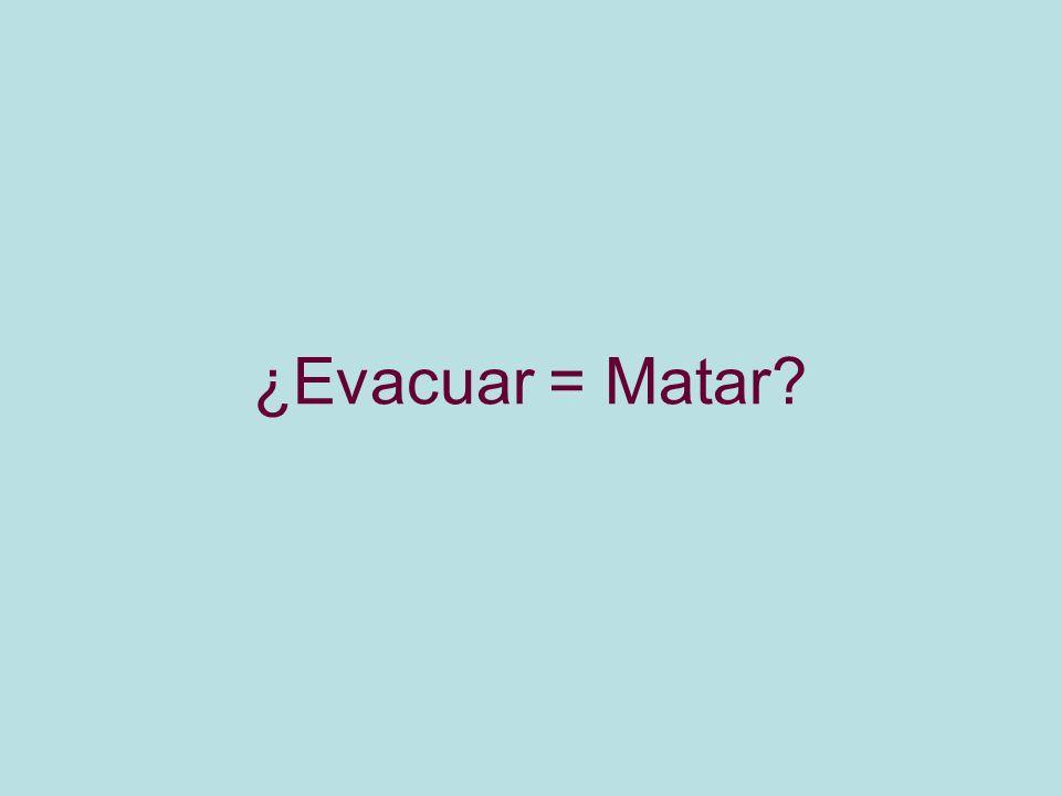 ¿Evacuar = Matar