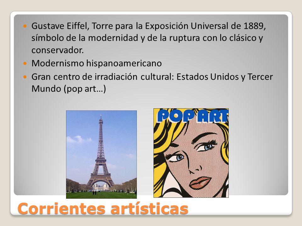 Corrientes artísticas Gustave Eiffel, Torre para la Exposición Universal de 1889, símbolo de la modernidad y de la ruptura con lo clásico y conservado