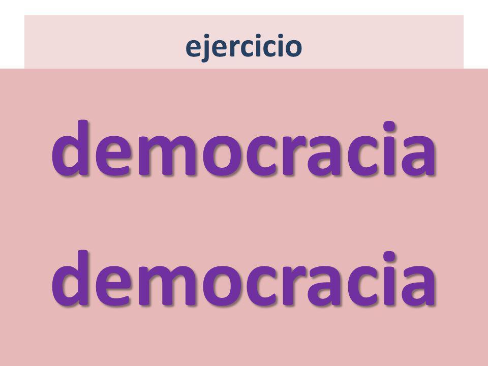 ejercicio democracia democracia