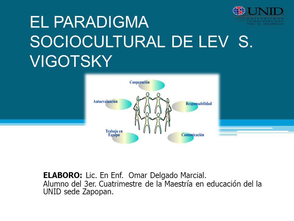 EL PARADIGMA SOCIOCULTURAL DE LEV S.VIGOTSKY ELABORO: Lic.