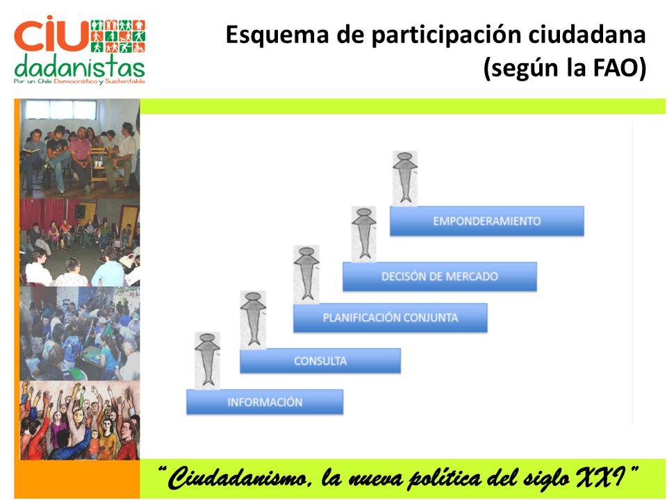 Esquema de participación ciudadana (según la FAO)