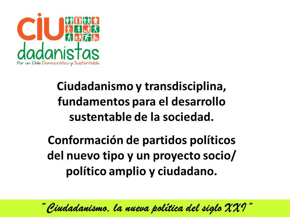 Ciudadanismo y transdisciplina, fundamentos para el desarrollo sustentable de la sociedad.