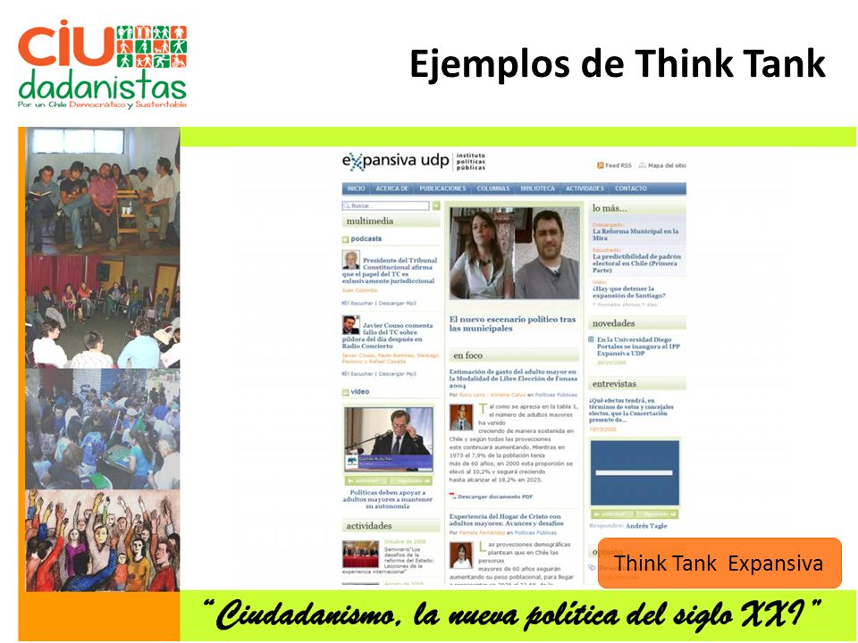 Think Tank Expansiva Ejemplos de Think Tank