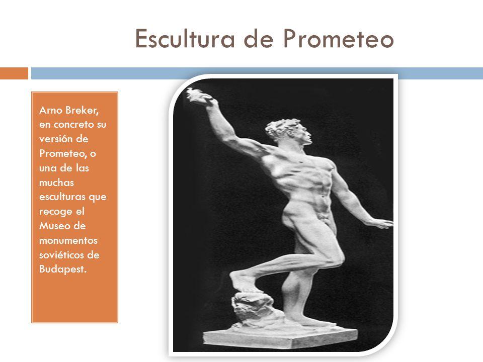 Escultura de Prometeo Arno Breker, en concreto su versión de Prometeo, o una de las muchas esculturas que recoge el Museo de monumentos soviéticos de