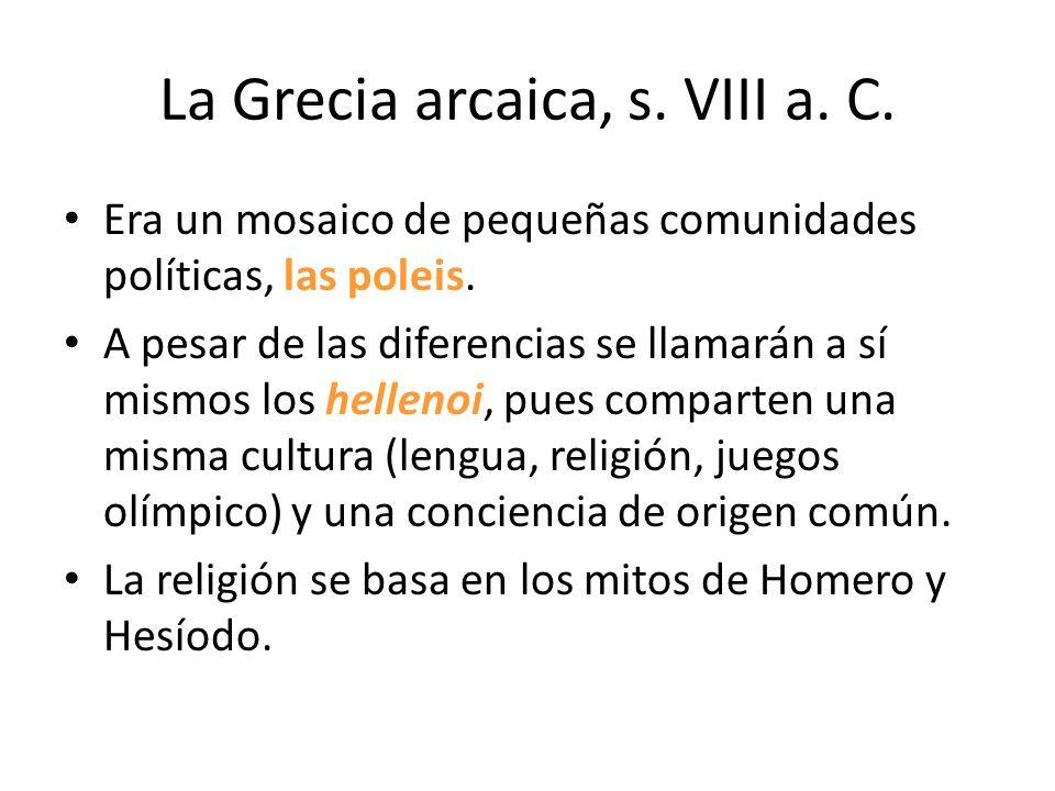 Configuración de la Grecia arcaica. La religión pública.