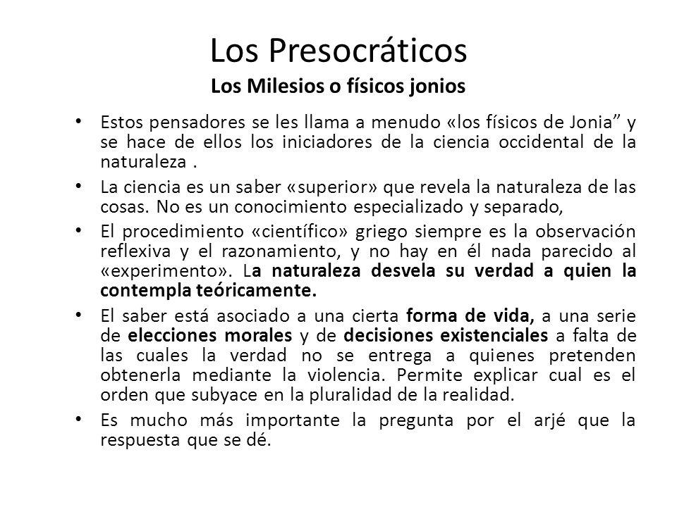 FILOSOFÍA PRESOCRÁTICA (DESDE LOS INICIOS DEL SIGLO VI A. C. HASTA MEDIADOS DEL SIGLO V A. C.) La palabra