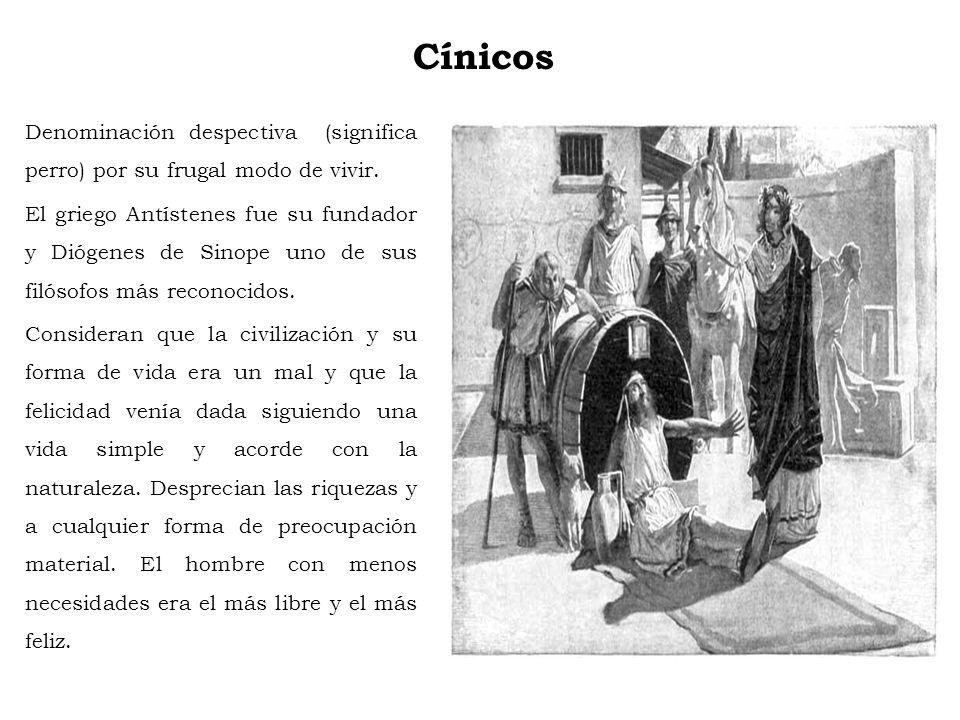 Estoicismo Zenón de Citio fundó en el 311 a. C., una escuela en una Stóa poikilé, es decir, pórtico pintado, palabra de la que deriva estoicismo. Los
