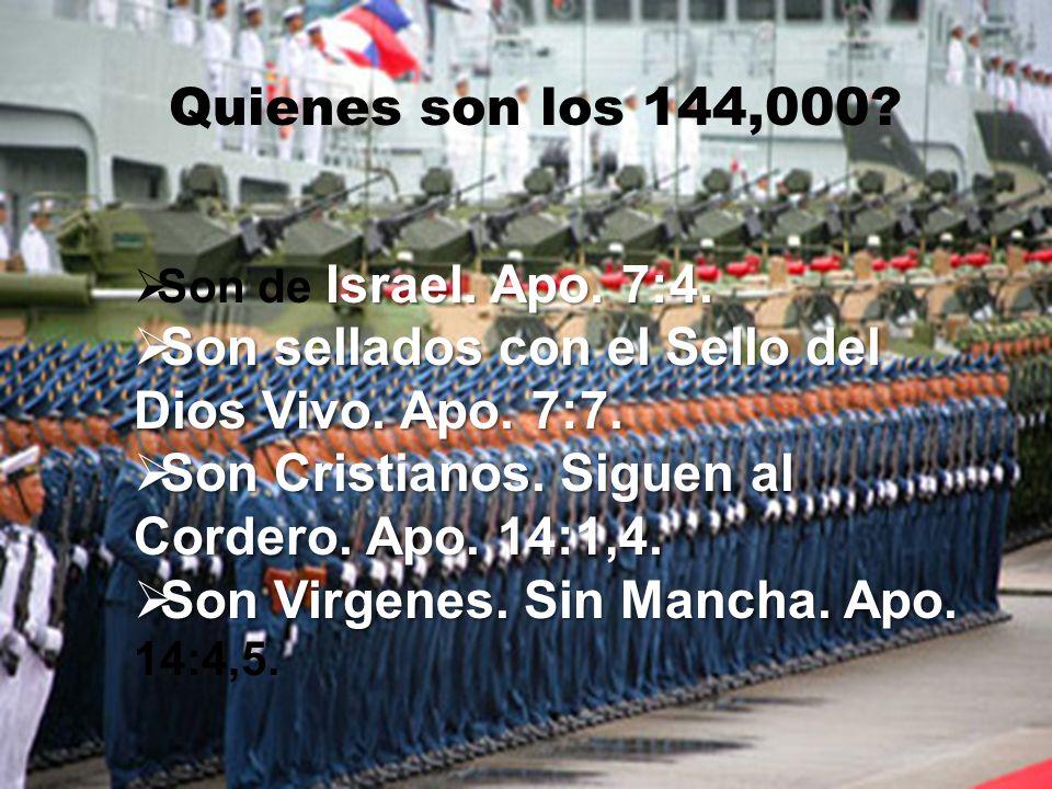 ¿DÓNDE SE ENCUENTRAN LOS 144,000 CUANDO SON SELLADOS.