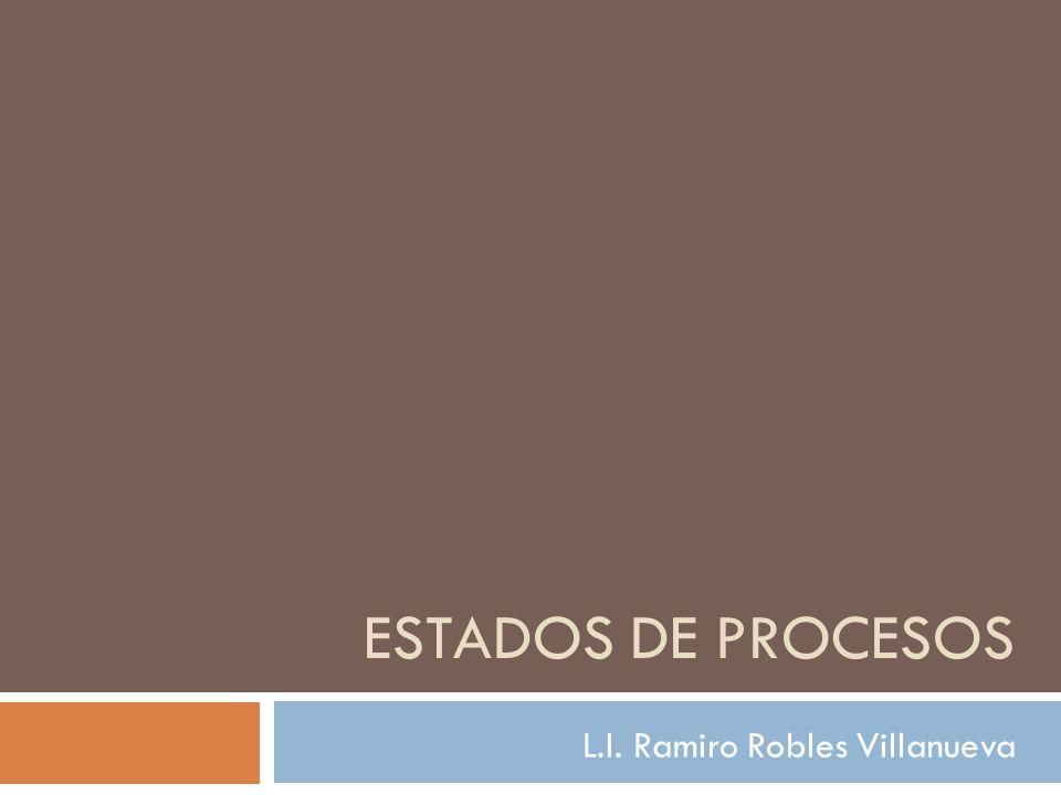 ESTADOS DE PROCESOS L.I. Ramiro Robles Villanueva