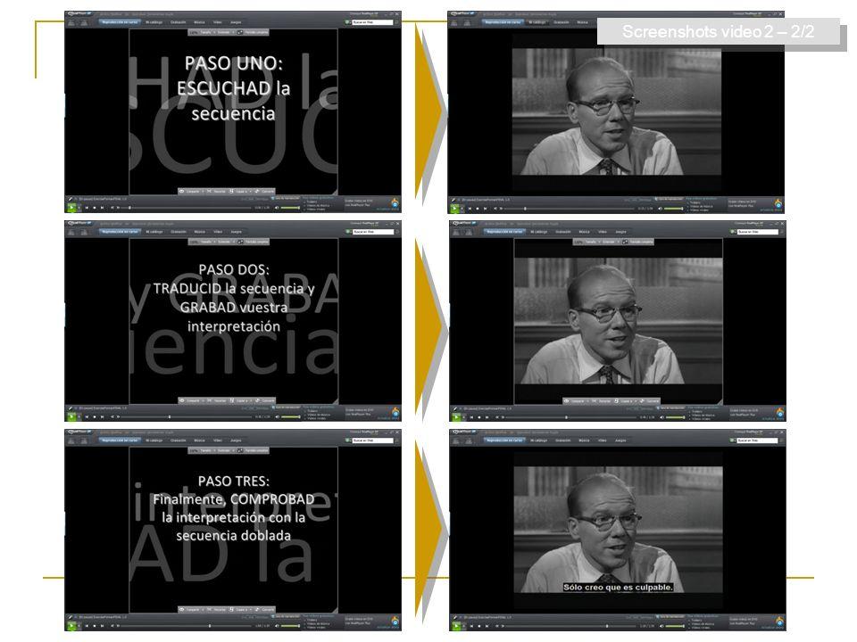 Screenshots video 2 – 2/2