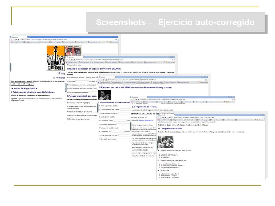 Screenshots – Ejercicio auto-corregido