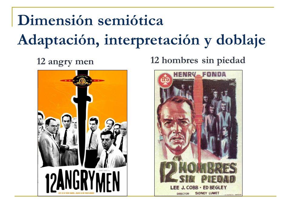 Dimensión semiótica Adaptación, interpretación y doblaje 12 hombres sin piedad 12 angry men