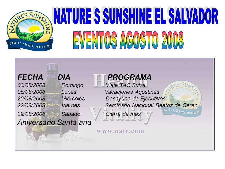 FECHA DIA PROGRAMA 03/08/2008 Domingo Viaje TAC Suiza 05/08/2008 Lunes Vacaciones Agostinas 20/08/2008 Miércoles Desayuno de Ejecutivos 22/08/2008 Vie