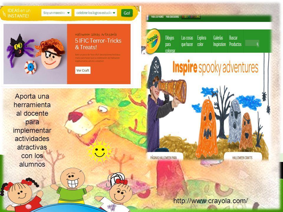 Aporta una herramienta al docente para implementar actividades atractivas con los alumnos http://www.crayola.com/