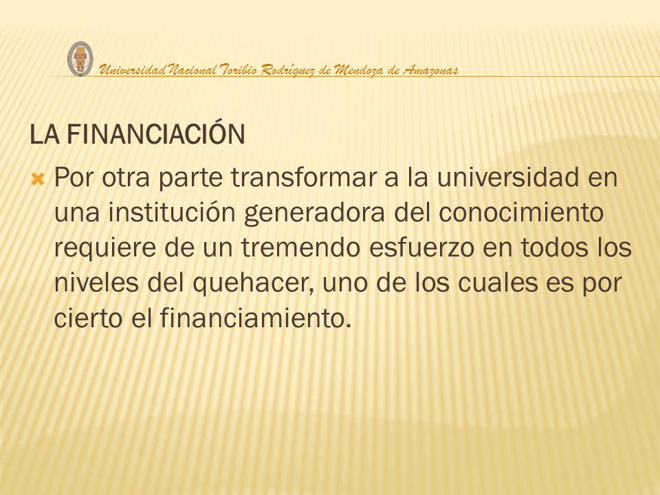 En el caso de nuestras universidades públicas, vemos que por parte del estado no hay una política definida de financiamiento.