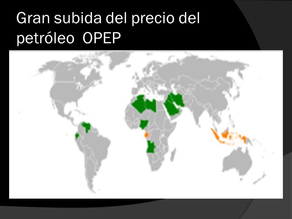 Gran subida del precio del petróleo OPEP