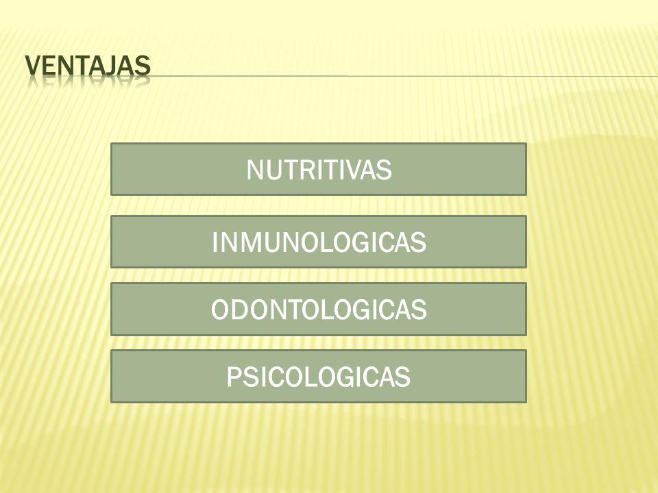 NUTRITIVAS INMUNOLOGICAS ODONTOLOGICAS PSICOLOGICAS