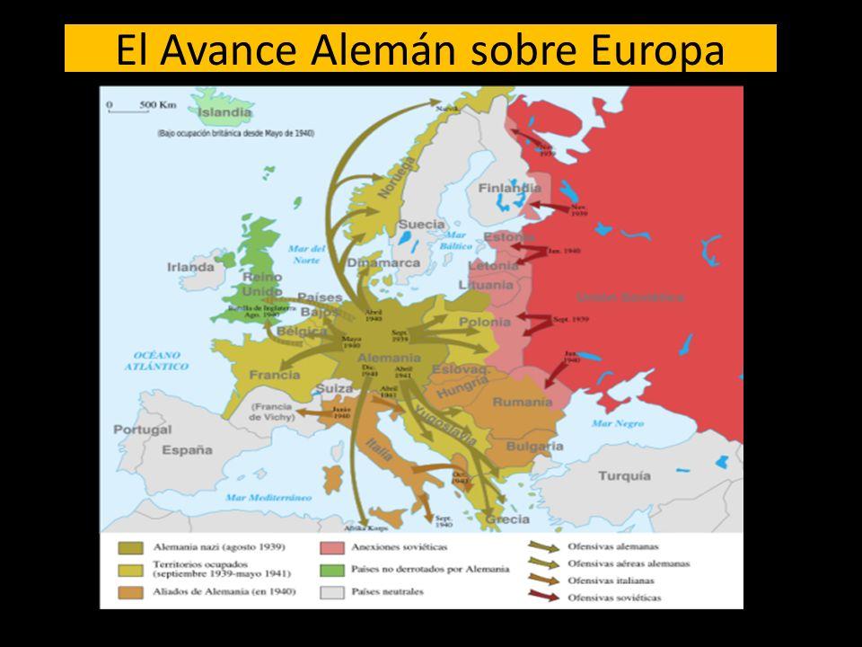 Frente Occidental (1940) Alemania ataca Bélgica, Holanda, Luxemburgo y Francia Alemania aplica la Guerra Relámpago Alemania ocupa Paris.