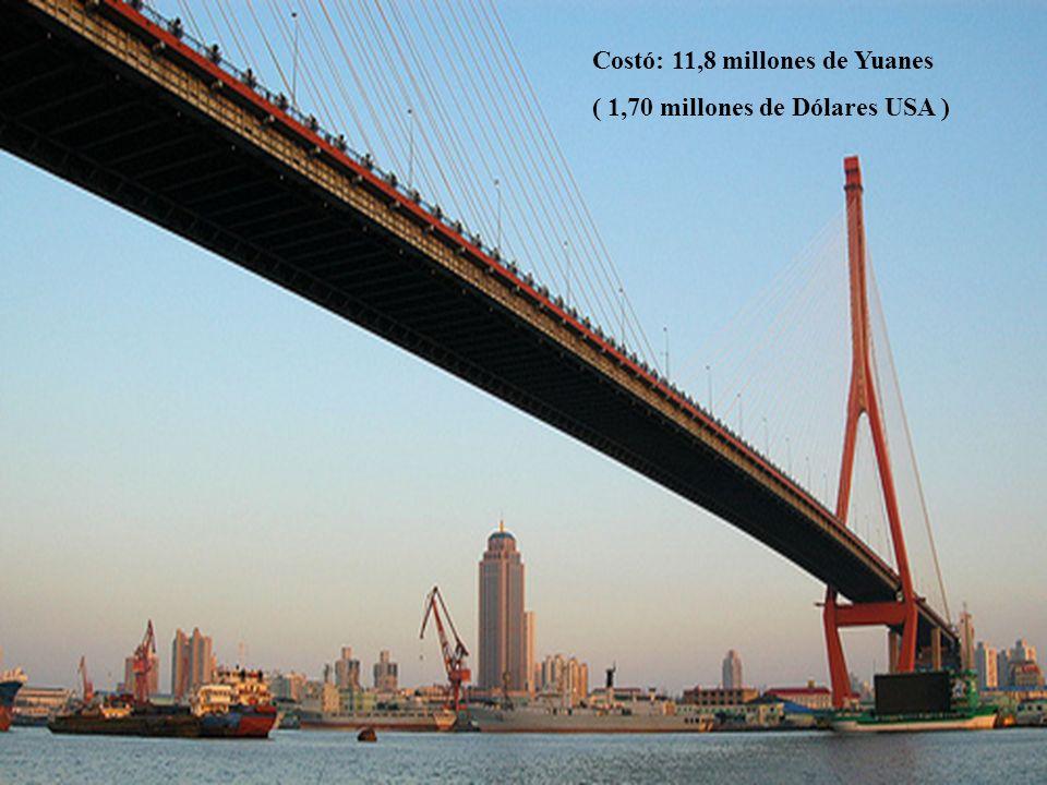 6 Costó: 11,8 millones de Yuanes ( 1,70 millones de Dólares USA )